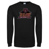Black Long Sleeve T Shirt-Shaw Distressed