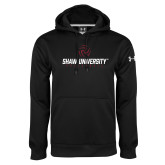 Under Armour Black Performance Sweats Team Hoodie-Abstract Volleyball Design