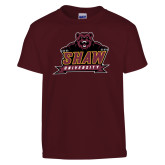 Youth Maroon T Shirt-Shaw University Primary