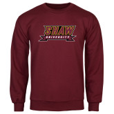 Maroon Fleece Crew-Shaw University Stacked Logo