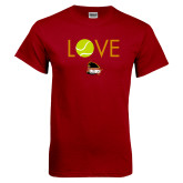 Cardinal T Shirt-Love Tennis