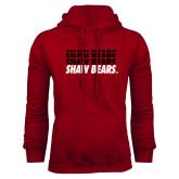 Cardinal Fleece Hoodie-Shaw Bears Repeating