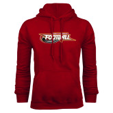 Cardinal Fleece Hoodie-Football