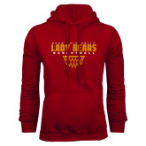 Cardinal Fleece Hoodie-Lady Bears Sharp Net Basketball