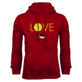 Cardinal Fleece Hoodie-Love Tennis