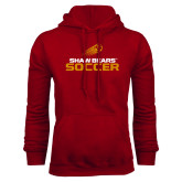 Cardinal Fleece Hoodie-Soccer Shooting Ball