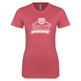 Next Level Ladies SoftStyle Junior Fitted Pink Tee-Shaw University Primary