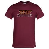 Maroon T Shirt-Shaw University Stacked Logo