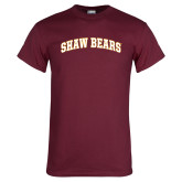 Maroon T Shirt-Shaw Bears Arched