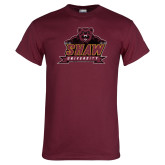 Maroon T Shirt-Shaw Distressed