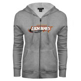 ENZA Ladies Grey Fleece Full Zip Hoodie-Lady Bears