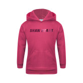 Youth Raspberry Fleece Hoodie-Shaw Bears Foil