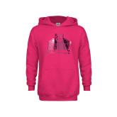 Youth Raspberry Fleece Hoodie-Shaw University Primary Foil