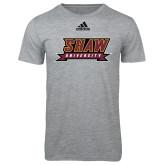 Adidas Sport Grey Logo T Shirt-Shaw University Stacked Logo