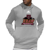 Adidas Grey Team Issue Hoodie-Shaw University Primary