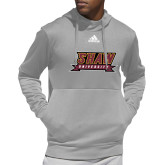 Adidas Grey Team Issue Hoodie-Shaw University Stacked Logo