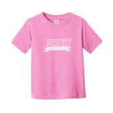 Toddler Pink T Shirt-Shaw University Stacked Logo
