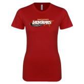 Next Level Ladies SoftStyle Junior Fitted Cardinal Tee-Lady Bears