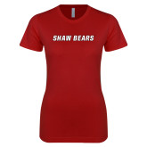 Next Level Ladies SoftStyle Junior Fitted Cardinal Tee-Shaw Bears