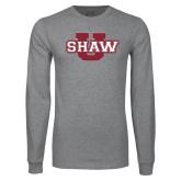 Grey Long Sleeve T Shirt-Shaw U