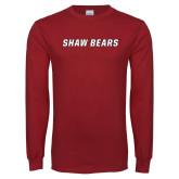 Cardinal Long Sleeve T Shirt-Shaw Bears