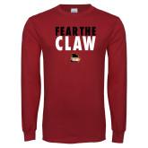 Cardinal Long Sleeve T Shirt-Fear the Claw