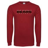 Cardinal Long Sleeve T Shirt-Bears Football
