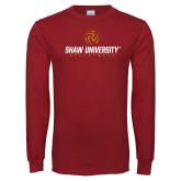 Cardinal Long Sleeve T Shirt-Abstract Volleyball Design