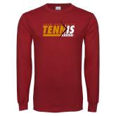 Cardinal Long Sleeve T Shirt-Abstract Tennis Design