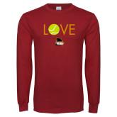Cardinal Long Sleeve T Shirt-Love Tennis