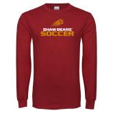 Cardinal Long Sleeve T Shirt-Soccer Shooting Ball