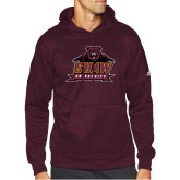 Adidas Maroon Team Issue Hoodie-Shaw University Primary