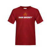 Youth Cardinal T Shirt-Abstract Volleyball Design