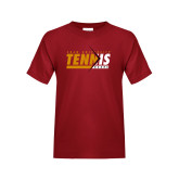Youth Cardinal T Shirt-Abstract Tennis Design