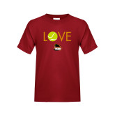 Youth Cardinal T Shirt-Love Tennis