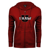 ENZA Ladies Cardinal Fleece Full Zip Hoodie-Shaw U