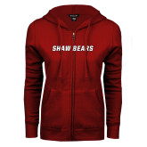 ENZA Ladies Cardinal Fleece Full Zip Hoodie-Shaw Bears
