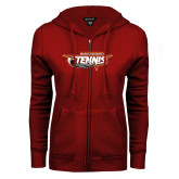 ENZA Ladies Cardinal Fleece Full Zip Hoodie-Tennis