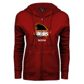ENZA Ladies Cardinal Fleece Full Zip Hoodie-Mom
