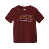Toddler Maroon T Shirt-Shaw University Stacked Logo