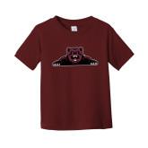 Toddler Maroon T Shirt-Bear Logo