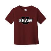 Toddler Maroon T Shirt-Shaw U Logo