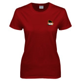 Ladies Cardinal T Shirt-Primary Mark