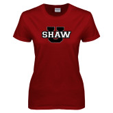 Ladies Cardinal T Shirt-Shaw U
