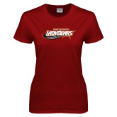 Ladies Cardinal T Shirt-Lady Bears
