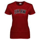 Ladies Cardinal T Shirt-Arched Shaw