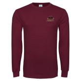 Maroon Long Sleeve T Shirt-Shaw University Primary
