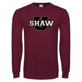 Maroon Long Sleeve T Shirt-Shaw U Logo