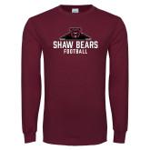 Maroon Long Sleeve T Shirt-Football