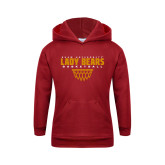 Youth Cardinal Fleece Hoodie-Lady Bears Sharp Net Basketball